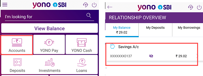SBI balance check online