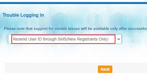 SBI forgot net banking username