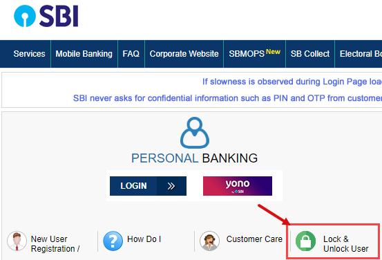 Lock/Unlock SBI Net Banking Access