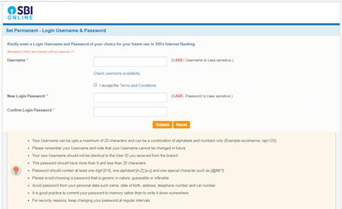 activate SBI net banking